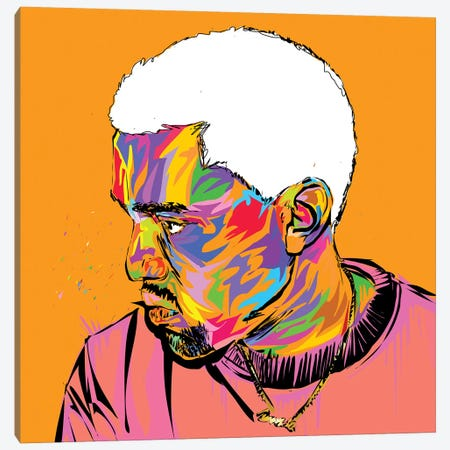 Kanye 3-Piece Canvas #TDR225} by TECHNODROME1 Art Print