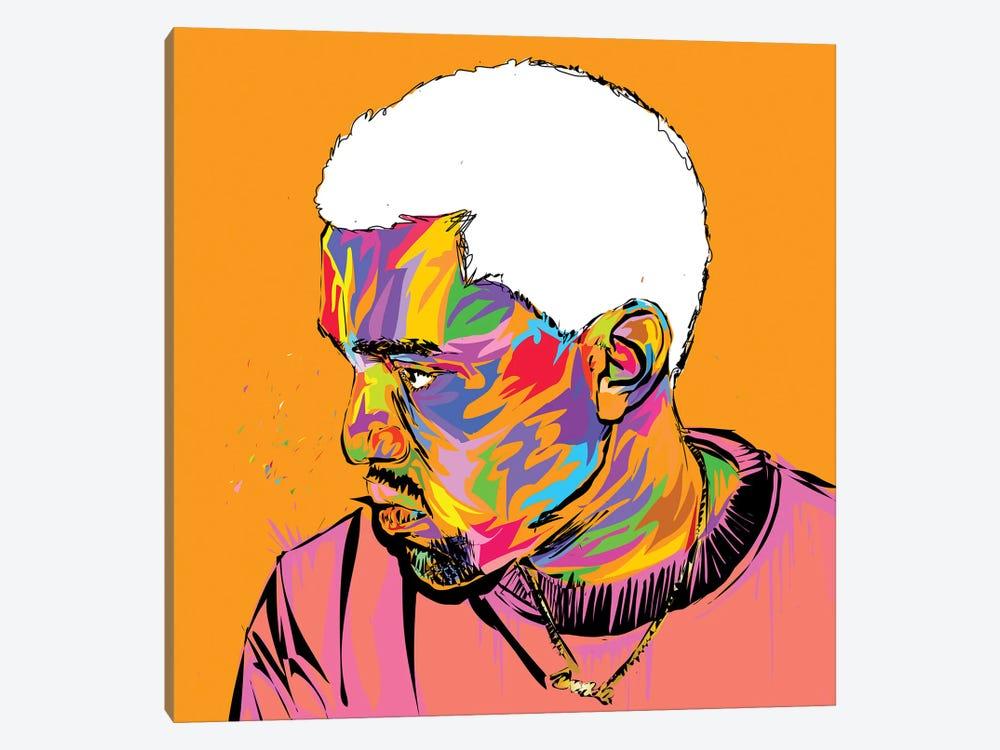 Kanye by TECHNODROME1 1-piece Canvas Wall Art