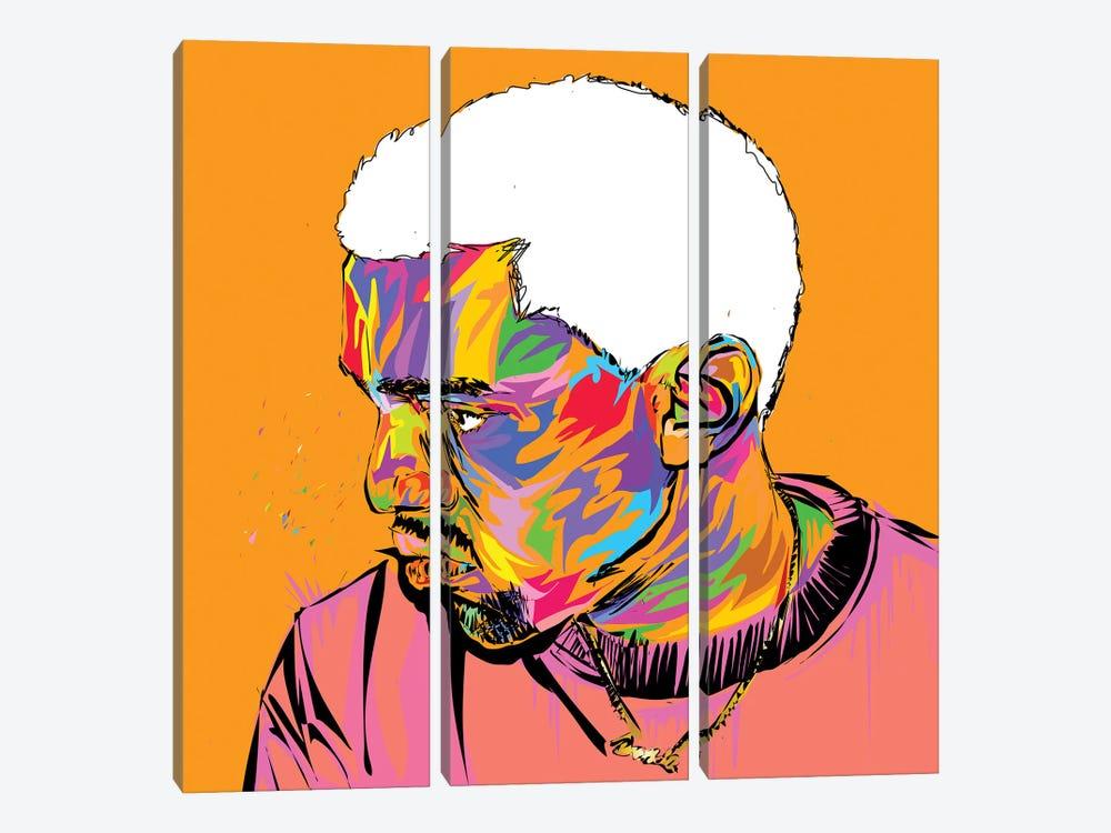 Kanye by TECHNODROME1 3-piece Canvas Art