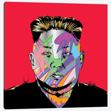 Kim Jong Canvas Print #TDR228} by TECHNODROME1 Canvas Wall Art