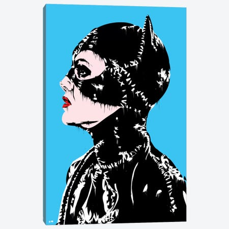 Catwoman Canvas Print #TDR22} by TECHNODROME1 Canvas Artwork