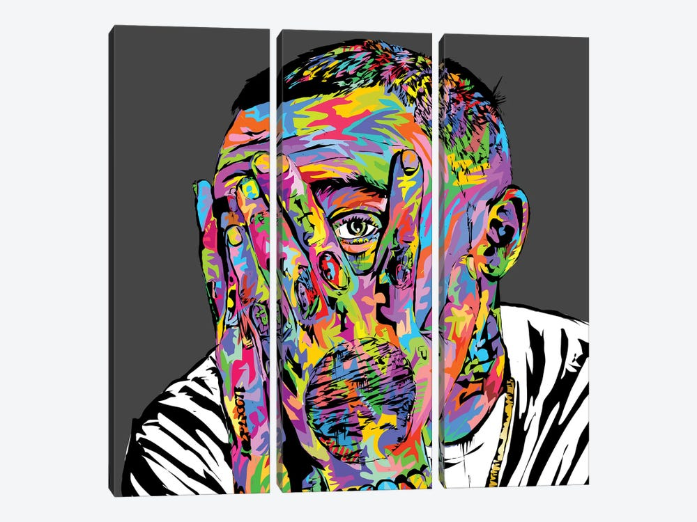 Mac Miller by TECHNODROME1 3-piece Canvas Artwork