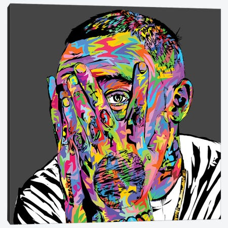 Mac Miller Canvas Print #TDR230} by TECHNODROME1 Canvas Print