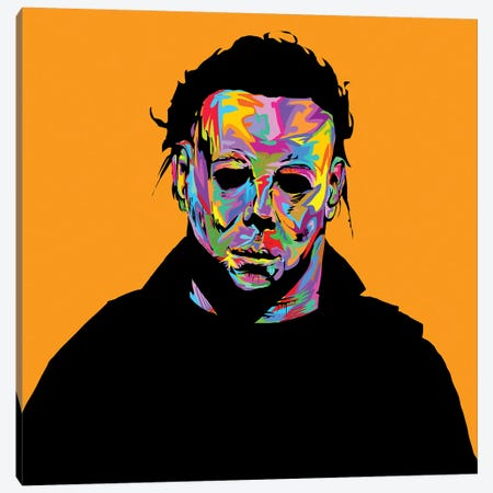 Micheal Myers Canvas Print #TDR231} by TECHNODROME1 Canvas Art Print