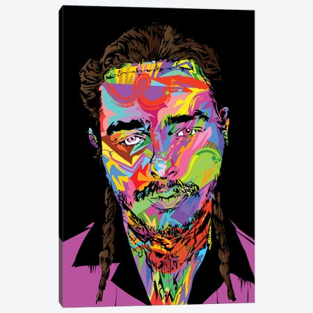 Post Malone Canvas Print #TDR235} by TECHNODROME1 Canvas Artwork