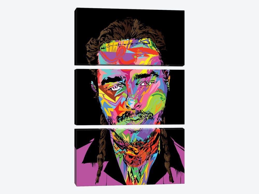 Post Malone by TECHNODROME1 3-piece Canvas Art Print
