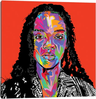 Rhi Rhi Canvas Art Print