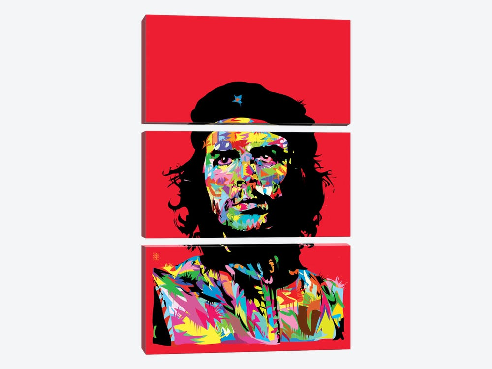 Che by TECHNODROME1 3-piece Canvas Art Print