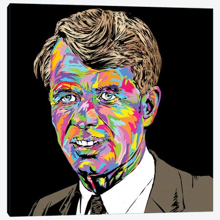 Robert Kennedy Canvas Print #TDR242} by TECHNODROME1 Canvas Wall Art