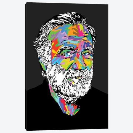 Robin Williams Canvas Print #TDR243} by TECHNODROME1 Canvas Art