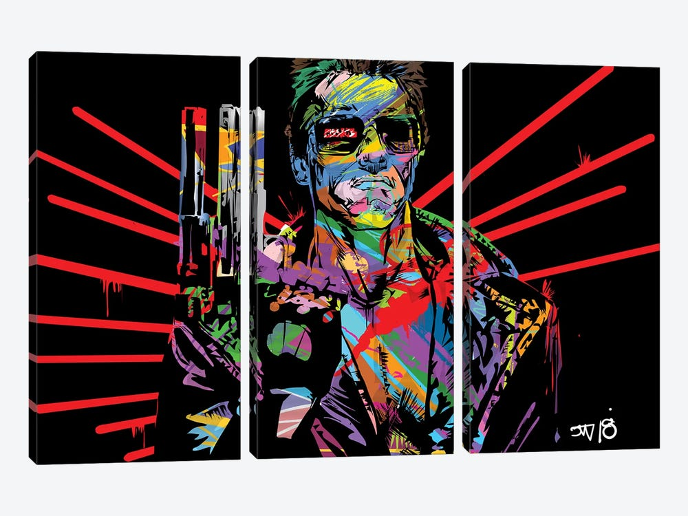 Terminator by TECHNODROME1 3-piece Canvas Print