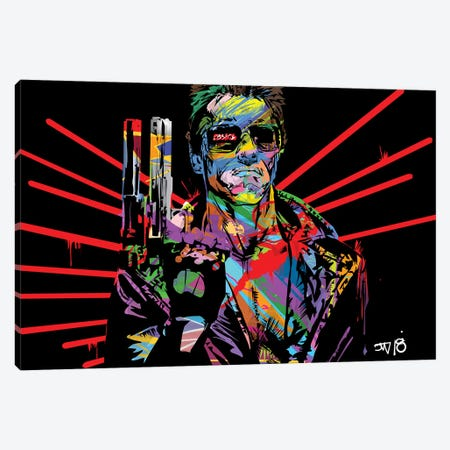 Terminator Canvas Print #TDR248} by TECHNODROME1 Canvas Art