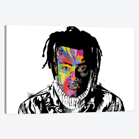 XXXTentacion Canvas Print #TDR249} by TECHNODROME1 Canvas Artwork