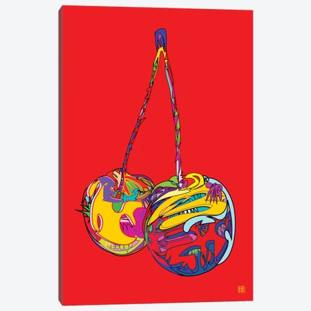 Cherries 3-Piece Canvas #TDR24} by TECHNODROME1 Canvas Print