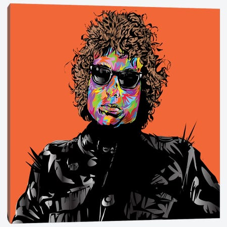 Bob Dylan Canvas Print #TDR250} by TECHNODROME1 Canvas Art Print