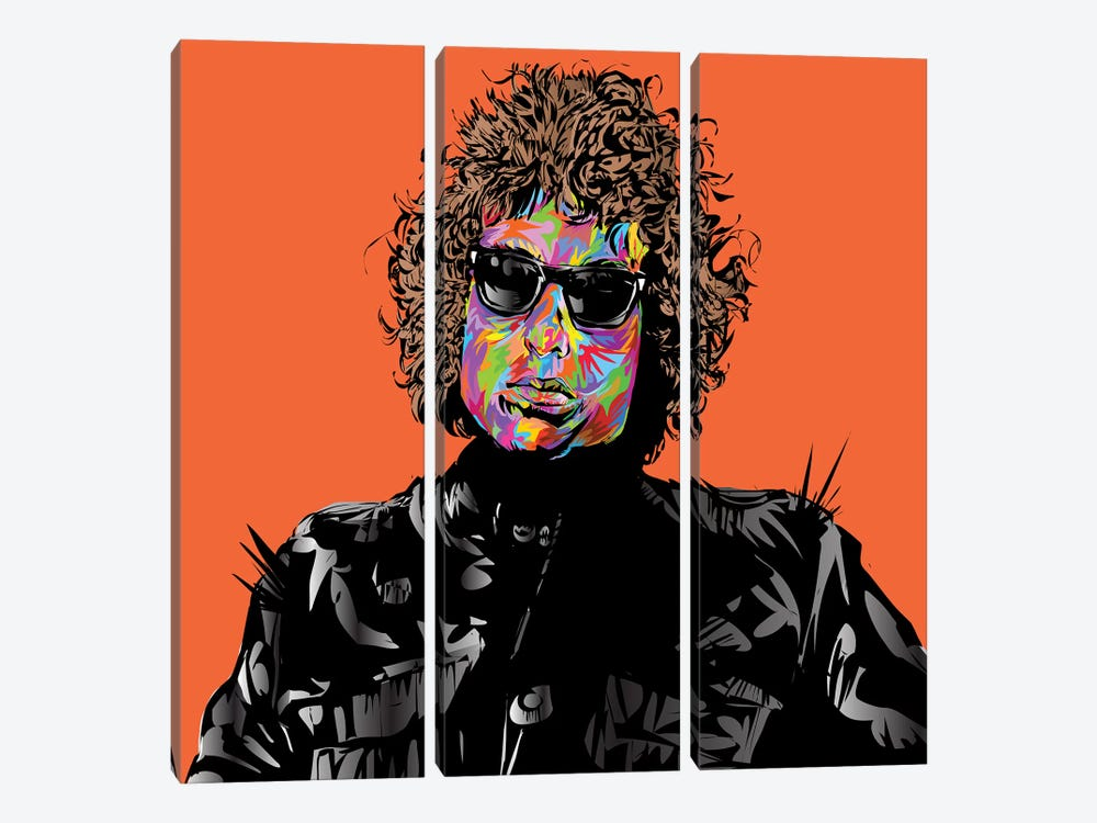 Bob Dylan by TECHNODROME1 3-piece Canvas Wall Art