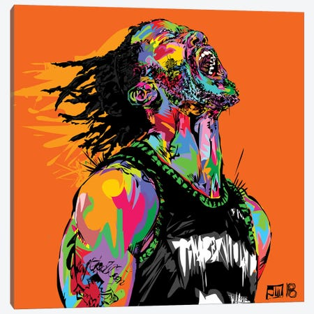 D Rose Canvas Print #TDR251} by TECHNODROME1 Art Print