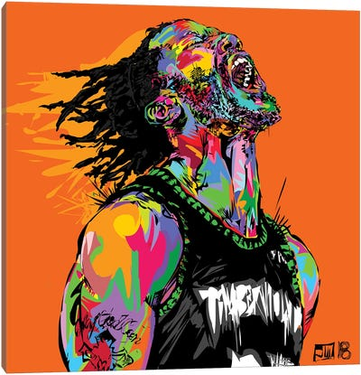 D Rose Canvas Art Print