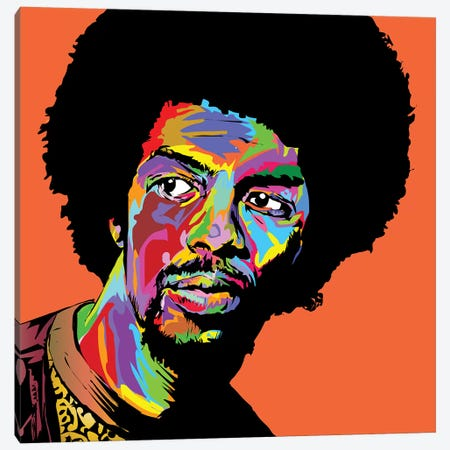 Gil Scott Canvas Print #TDR252} by TECHNODROME1 Art Print