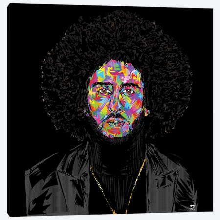 Kaepernickdrome Canvas Print #TDR254} by TECHNODROME1 Canvas Artwork
