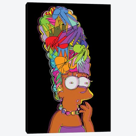 Marge Simpson Canvas Print #TDR256} by TECHNODROME1 Canvas Wall Art