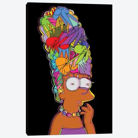 Marge Simpson Canvas Print #TDR256} by TECHNODROME1 Canvas Wall Art