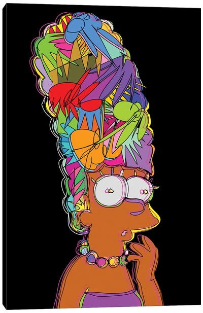 Marge Simpson Canvas Art Print