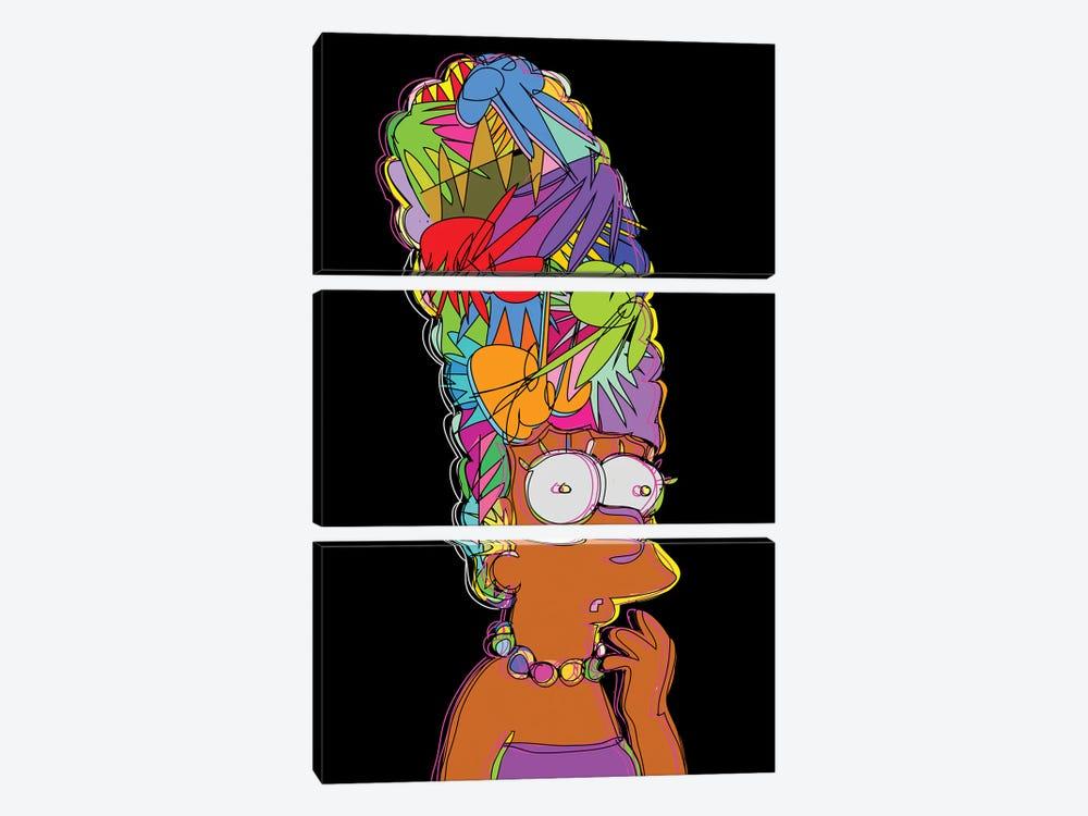 Marge Simpson by TECHNODROME1 3-piece Canvas Wall Art