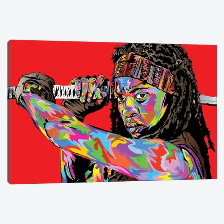 Michonne Canvas Print #TDR257} by TECHNODROME1 Canvas Art