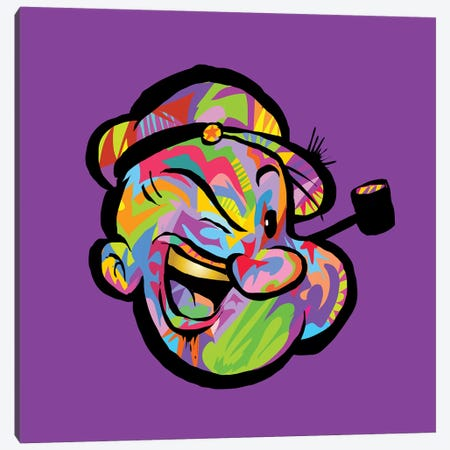 Popeye Canvas Print #TDR260} by TECHNODROME1 Canvas Wall Art