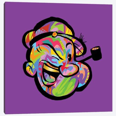 Popeye Canvas Print #TDR260} by TECHNODROME1 Canvas Wall Art