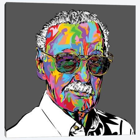 Stan Lee 3-Piece Canvas #TDR261} by TECHNODROME1 Canvas Art