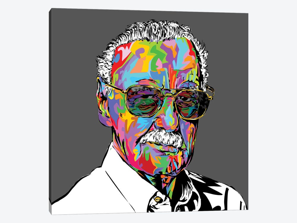 Stan Lee by TECHNODROME1 1-piece Canvas Art