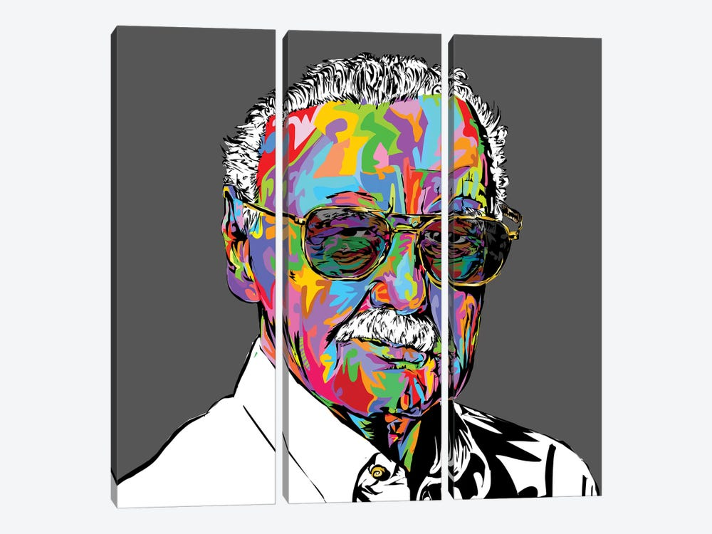 Stan Lee by TECHNODROME1 3-piece Canvas Art