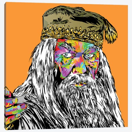 Dumbledore Canvas Print #TDR264} by TECHNODROME1 Canvas Art Print