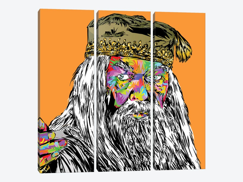 Dumbledore by TECHNODROME1 3-piece Canvas Print