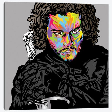 Jon Snow Canvas Print #TDR268} by TECHNODROME1 Canvas Wall Art