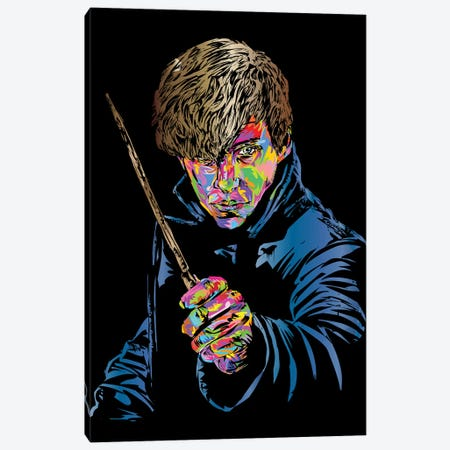Newt Scamander Canvas Print #TDR269} by TECHNODROME1 Canvas Artwork