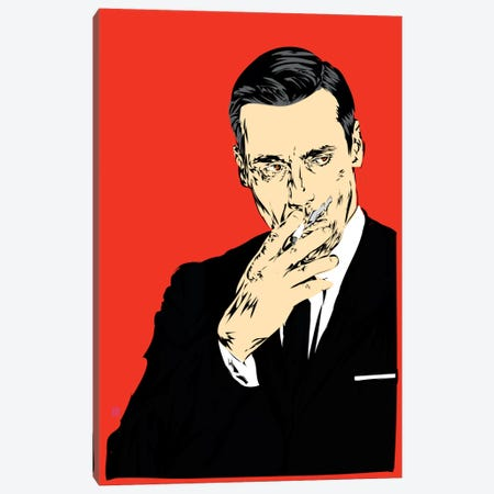 Don Draper Canvas Print #TDR26} by TECHNODROME1 Canvas Print