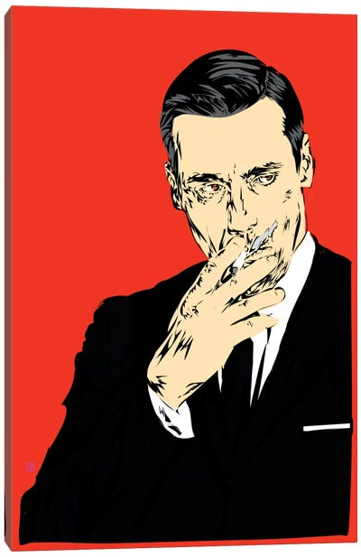 Don Draper Canvas Print #TDR26