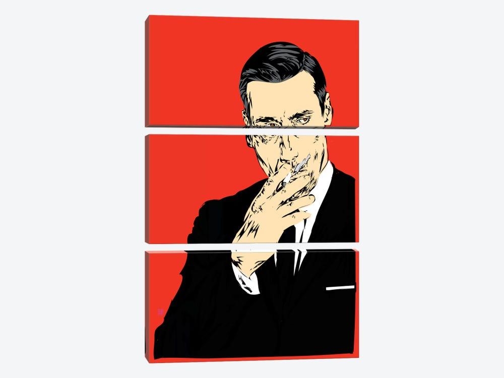 Don Draper by TECHNODROME1 3-piece Canvas Wall Art