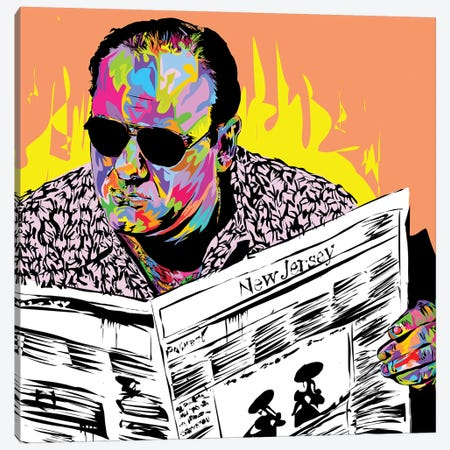 Tony Soprano Canvas Print #TDR271} by TECHNODROME1 Art Print