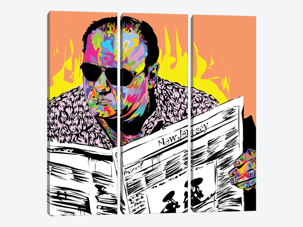 Tony Soprano by TECHNODROME1 3-piece Canvas Print