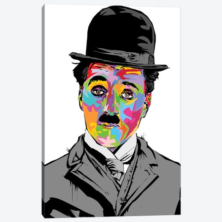 Charlie Chaplin Canvas Print #TDR275} by TECHNODROME1 Canvas Art