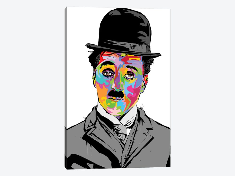 Charlie Chaplin by TECHNODROME1 1-piece Canvas Print