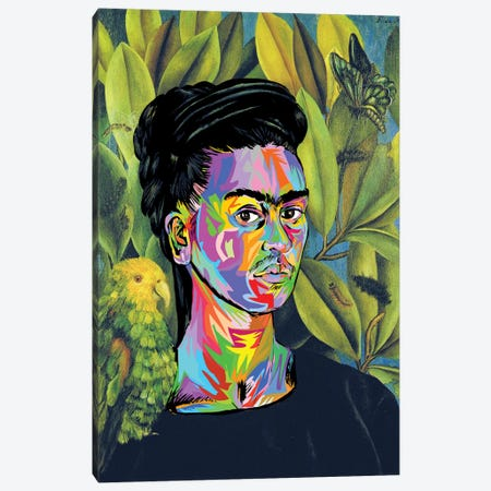 Frida Canvas Print #TDR278} by TECHNODROME1 Canvas Art Print