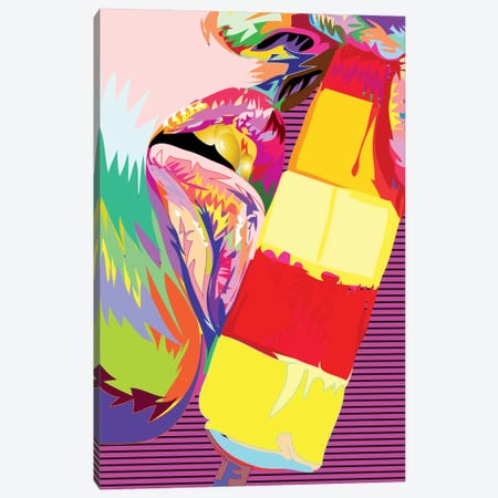 Double Lick Canvas Print #TDR27} by TECHNODROME1 Art Print