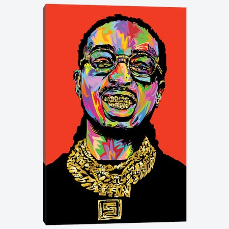 Quavo Canvas Print #TDR284} by TECHNODROME1 Canvas Art Print