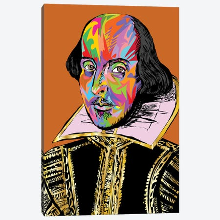 Shakespeare Canvas Print #TDR285} by TECHNODROME1 Canvas Art Print
