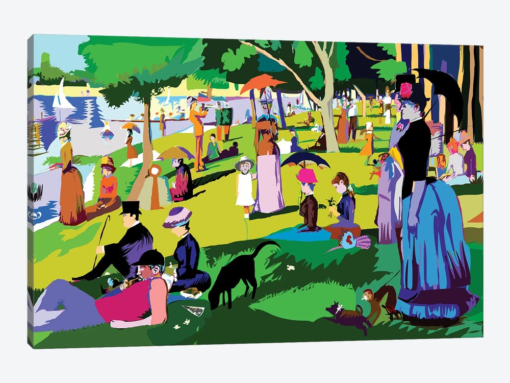 Sunday Afternoon On The Island Of La Grande Jatte By Georges Seurat by TECHNODROME1 1-piece Canvas Art